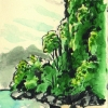 ulrich-schroeder_sketchbook_thailand_krabi_2003_ink-and-watercolor-on-paper